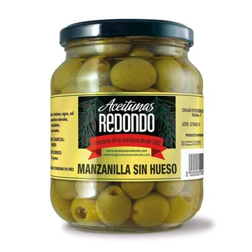 Aceitunas Manzanilla deshuesada 920g - Grüne kernlose Oliven