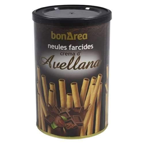 Barquillos rellenos de almendra 200g - waffle rolls filled with hazelnut cream