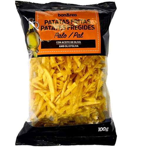 Patatas Fritas Palos con Aceite de Oliva 100g  - potatoe chips sticks in olive oil