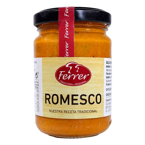 Salsa Romesco 130g - Tomato-bell pepper mayonnaise with garlic