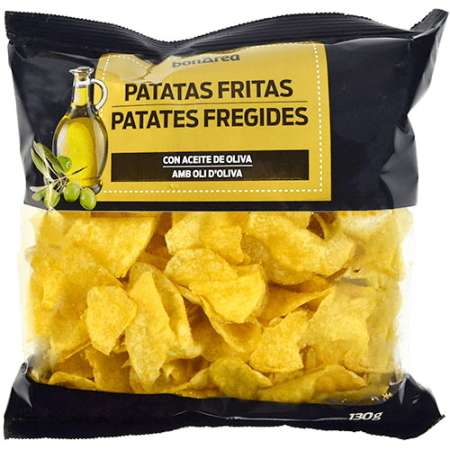 Patatas fritas - Chips bathed in olive oil